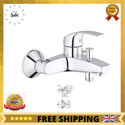 NEW 33300002 Eurosmart Single Lever Bath Shower Mixer Tap This Bath Tap Comes W • 65.04£