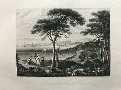 1845 Antique Print; Dundee From Broughty Ferry, Angus, Scotland After Fleming • 9.99£