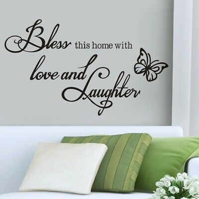 Love Butterfly Quotes Bedroom Wall Stickers Art Room Removable Decals • 5.78£