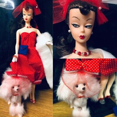 $ CDN68.93 • Buy OOAK REPRO Clone PONYTAIL BARBIE REPAINT As BILD LILLI RED Gay Paree & POODLE