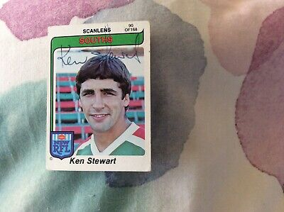 AU20 • Buy Scanlens 1980 Rugby League Trading Card NRL Ken Stewart Autographed South Sydney