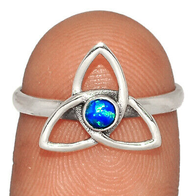 Celtic - Fire Opal 925 Sterling Silver Ring Jewelry S.7 BR34944 • 6.55£
