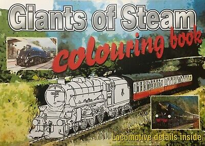 £4.99 • Buy Steam Trains Colouring Books With Full Colour Pictures And History Of Each Train