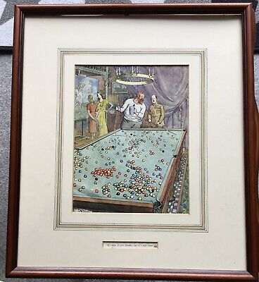 1945 Print:Cartoon By Frank Reynolds:'Punch':'Of Course It Isnt Snooker..'Fd/Gzd • 1.99£