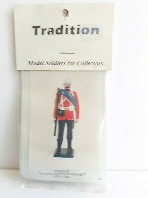 Tradition 54mm Toy Soldier Kit Sergeant The Royal West Kent Regiment Egypt 1882 • 6£