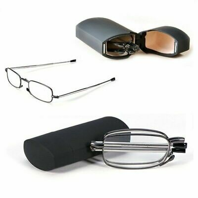 £4.99 • Buy Compact Folding Reading Glasses With Mini Flip Top Case +1.5 +2.0 +2.5 +3.0