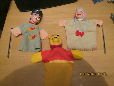 Disney Winnie The Pooh Hand Puppet + 2 Others • 9.85£