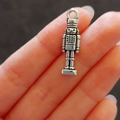 £2.45 • Buy Pack Of 10 Tibetan Silver Toy Soldier Pendant Charms Nutcracker 27mm X 7mm