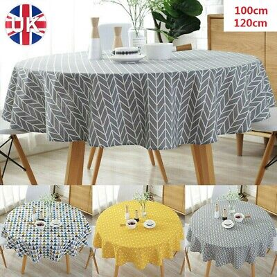 £8.63 • Buy Round Cotton Table Cloths Linen Cover Party Tableware Desk Home Kitchen Decor UK