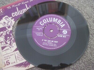 AU3.61 • Buy JOHNNY DUNCAN & THE BLUE GRASS BOYS If You Love Me Baby  1958 COLUMBIA Near Mint