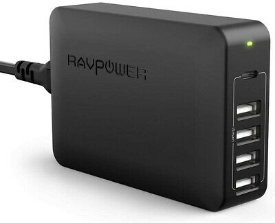 AU58.99 • Buy USB C Pd Charger, RAVPower 60W 5-Port USB Desktop Charging Station