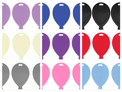 £3.49 • Buy 10 Plastic Balloon Shape Weights Pink Blue White Lilac Black Silver Rose Gold