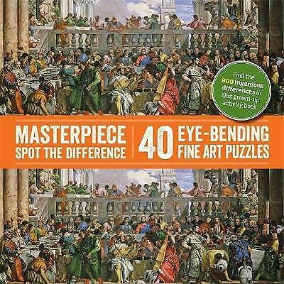 £8.99 • Buy Masterpiece Spot The Difference: 40 Eye-Bending Fine Art Puzzles New PB Book