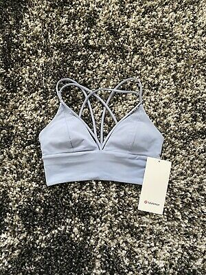 $ CDN48.74 • Buy NWT Lululemon Pushing Limits Bra In Concrete Blue! Size 4!
