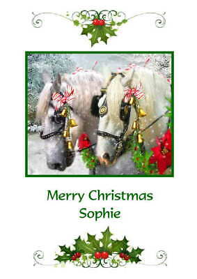 £3.45 • Buy Personalised Horse Christmas Card