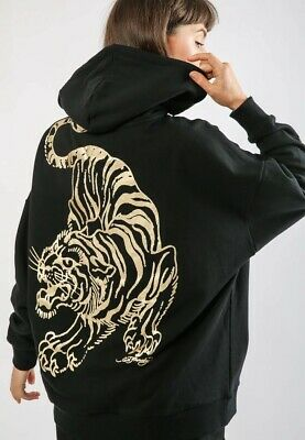 £65 • Buy Ed Hardy Giant Tiger Hoody Oversized Black Gold Size Small