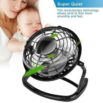 AU7.18 • Buy Mini USB Desk Fan Small Quiet Personal Cooler USB Powered Portable Table Fan Uk