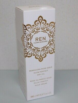 £15 • Buy REN Moroccan Rose Gold Glow Perfect Dry Body Oil 100ml, Brand New In Box