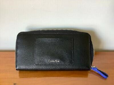 £20 • Buy Calvin Klein Large Zip Around Wallet Black