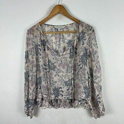 AU21.95 • Buy Forever New Blouse Top Womens 14 Multicoloured Floral Long Sleeve V-Neck