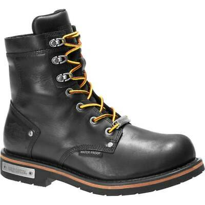 $ CDN170.97 • Buy Mens Harley Davidson Hamerton Riding Biker Leather Side-Zip Boots Sizes 7 To 12