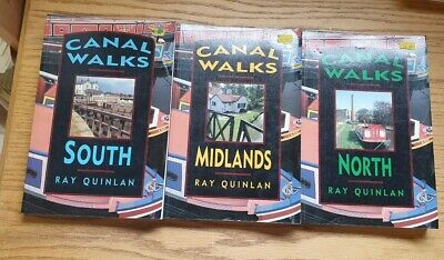 3 Canal Walks Books By Ray Quinlan - North, South & Midlands • 12£