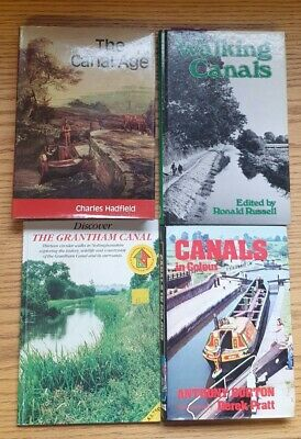 4 Books On Canals - Canal Walking, The Canal Age, Canals In Colour • 15£