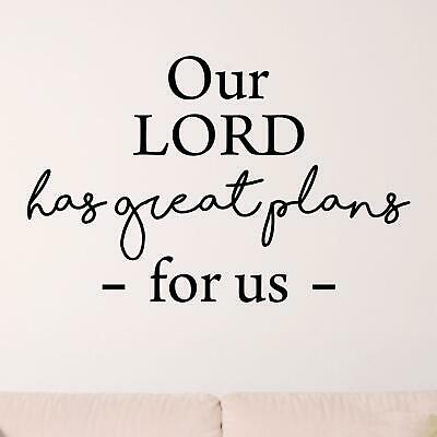 $32.18 • Buy Our Lord Has Great Plans For Us Wall Sticker Decal  Quote Christian Bible Jesus