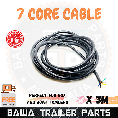 AU19.95 • Buy 3M X 7 Core Cable Wire Lights Wiring LED Caravan Trailer Truck Boat Automotive