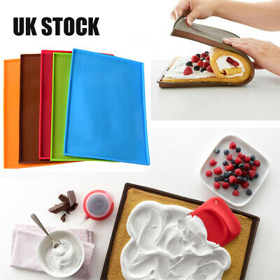 Silicone Baking Sheet Work Mat Oven Tray Liner Pastry Pizza Non Stick DIY Tool • 2.43£