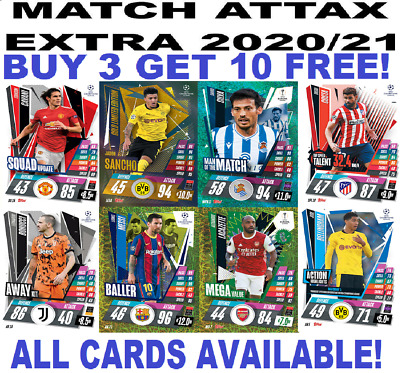 £0.99 • Buy Topps Match Attax Extra 2020/21 20/21 Base Cards ☆ Foil Cards Buy 3 Get 50% Off!