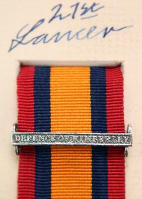 AU15.12 • Buy Qsa Queens South Africa Medal Ribbon Bar Clasp Defence Of Kimberley Boer War