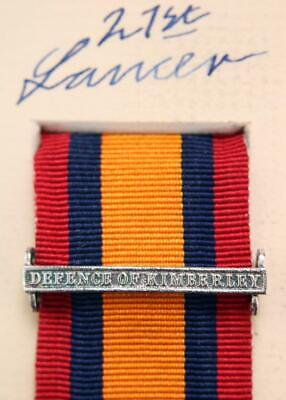 AU15.14 • Buy Qsa Queens South Africa Medal Ribbon Bar Clasp Defence Of Kimberley Boer War