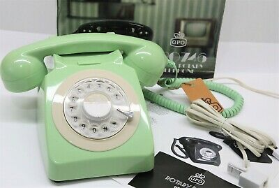 £25.99 • Buy GPO 746 Retro 1960s Style Rotary Dial Telephone In Mint Green