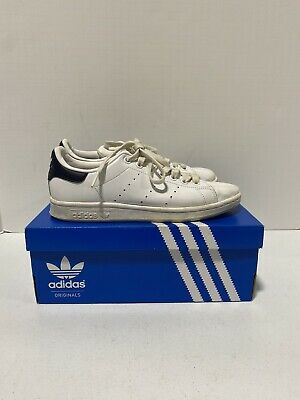 $ CDN12.52 • Buy Adidas Women's Original Stan Smith White/Navy Blue Leather Sneakers Size 6.5