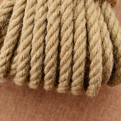 £12.95 • Buy Natural Jute Rope Twisted Hessian Braided Decking Garden Boating Sash 6-40mm Dia