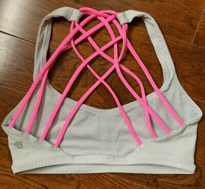 $ CDN40 • Buy Lululemon Free To Be Serene Bra Size 4 Neon Pink Gray