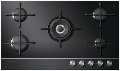 AU999 • Buy Fisher & Paykel CG905DLPGB1 90cm Gas On Glass Cooktop LPG