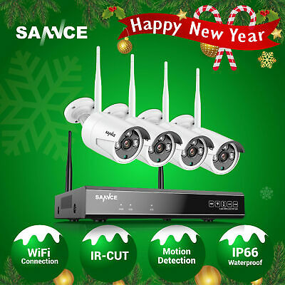 AU189.89 • Buy SANNCE Wireless 8CH 1080P NVR 2MP Outdoor Security Camera System IR Motion Alert