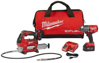 $449 • Buy Milwaukee-2767-22GG M18 FUEL HTIW With Grease Gun Kit                        ...