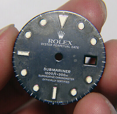 $ CDN1.25 • Buy Vintage Genuine Rolex Submariner 16610 16800 Tropical Faded Black Watch Dial