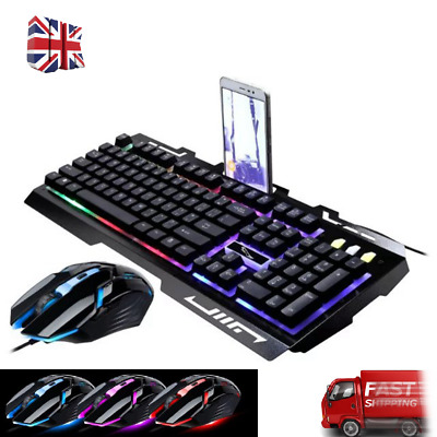 AU15.99 • Buy G700 USB Wired Backlight Feel Metal Keyboard Gaming &Mouse Combo For PC Laptop