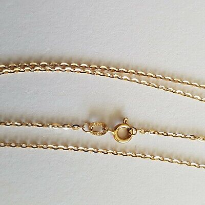 AU23 • Buy Beautiful Solid 9ct Gold Cable Links Chain Necklace. Fine Skinny. 50cm.Not Scrap