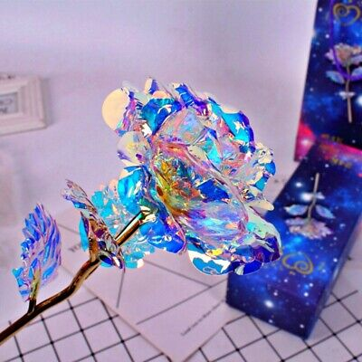 AU20.62 • Buy 24K Gold Foil Rose Flower LED Luminous Galaxy Mother's Day Valentine's Day Gift