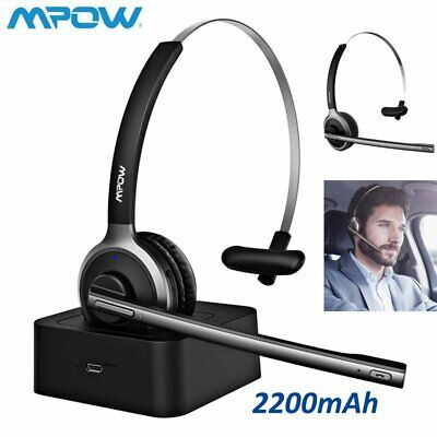 £27.99 • Buy Mpow Wireless SOHO Headset Over Ear Bluetooth Earphone Truck Driver Call Center