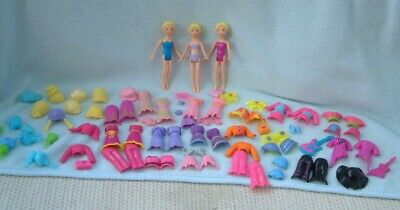 £19.99 • Buy 3 X Magnetic Polly Pocket Dolls + Magnetic Clothing Hats Shoes Bags Wigs Bundle