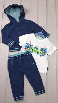 TED BAKER Baby Boys Tracksuit Hoodie Joggers Zoo T-Shirt Outfit 9-12 Months VGC • 18.99£