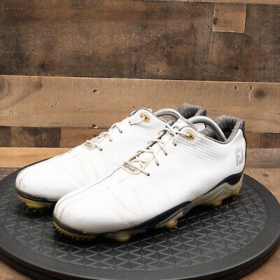 $54.77 • Buy Footjoy DNA Golf Shoes Mens Dryjoy White Leather Soft Spikes Lace Up Size 8.5M