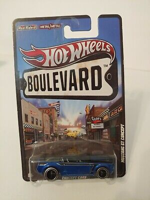 $ CDN17.48 • Buy Hot Wheels Boulevard Blue Mustang GT Concept Real Riders W/protector