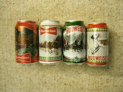 $ CDN16.23 • Buy Lot Of 4 Budweiser Clydesdale 2020 Holiday Stein Beer Cans